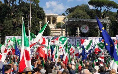 A Roma una piazza piena di entusiasmo ed energie