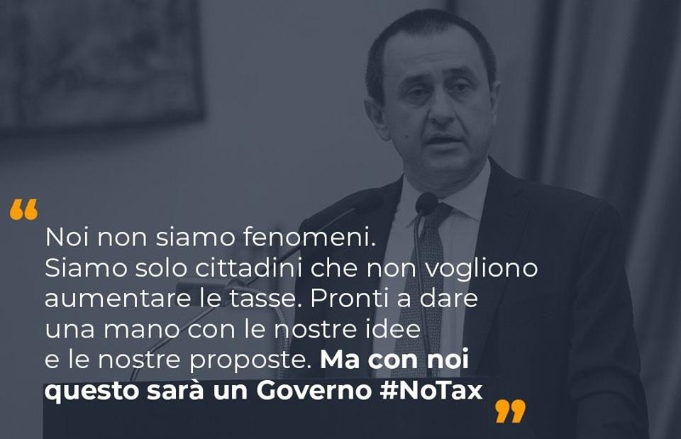 Con noi questo sarà un governo #NoTax
