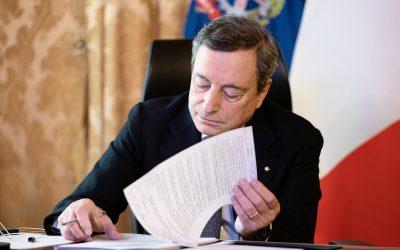 Con Draghi si cambia passo